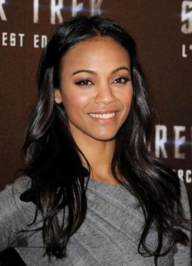 Zoe Saldana at the photocall of &quot;Star Trek.&quot;